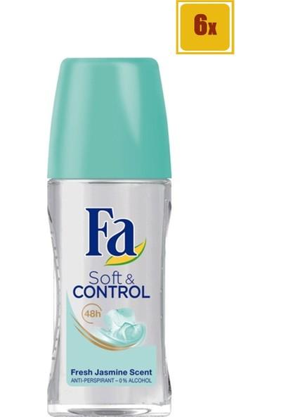 Fa Soft & Control Dry Kadın Roll-On 50 ml 6'lı Set