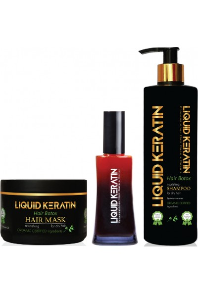 Liquid Keratin Evde Keratin Bakım Seti - Süper Set (Spreyli) - Liquid Keratin