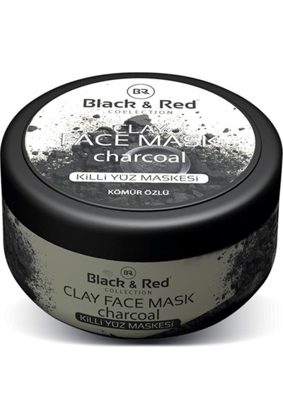 Black & Red Clay Killi Yüz Maskesi Kömür Özlü 400 Gr