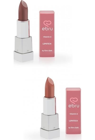 Ebru Şallı Cutie Pink & Brownie 2'li Ruj