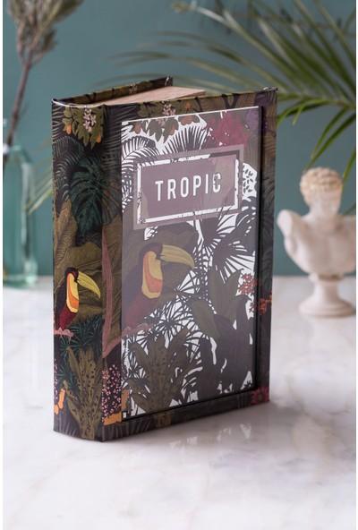 Arma House Tropik Kitap Şeklinde Aynalı Kutu
