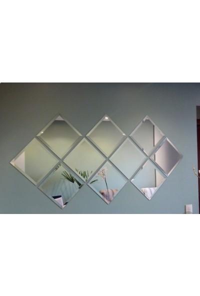 Ayna Fabrikası 12 Parça Pera Model Dekoratif Salon Veya Oturma Odası Dizayn Ayna