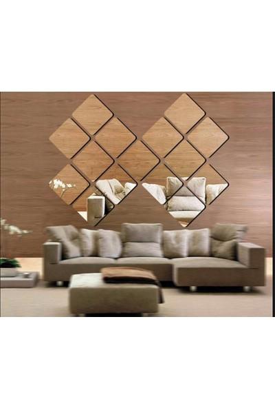Ayna Fabrikası Duvar Dekor 15 Adet 20 x 20 4Mm Flotal Gerçek Ayna