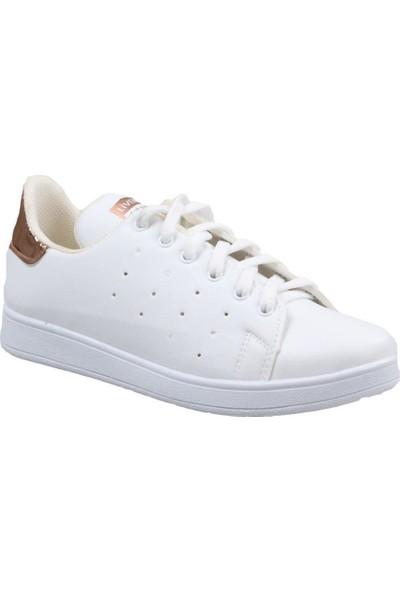 Livens Kadın Beyaz-Altin Günlük Spor Ayakkabı