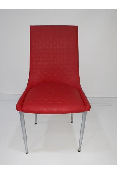 Bengi Mutfak Sandalyesi Samba Kırmızı