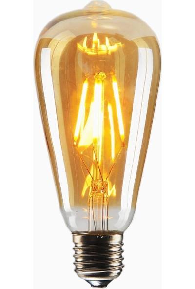 Edison St64 Flamanlı 4W Led Rustik Dekoratif Ampul Vintage Aydınlatma