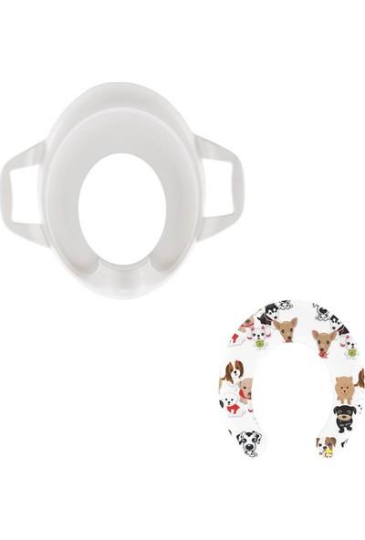 Softy Comfort Kids Klozet Adaptörü Yavru Köpek Desen Beyaz