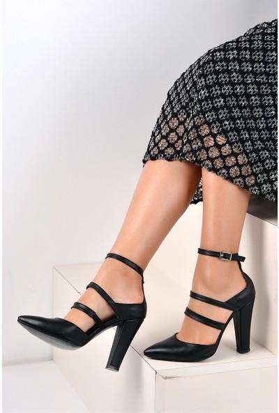 Pembe Potin Siyah Kadın Ayakkabı