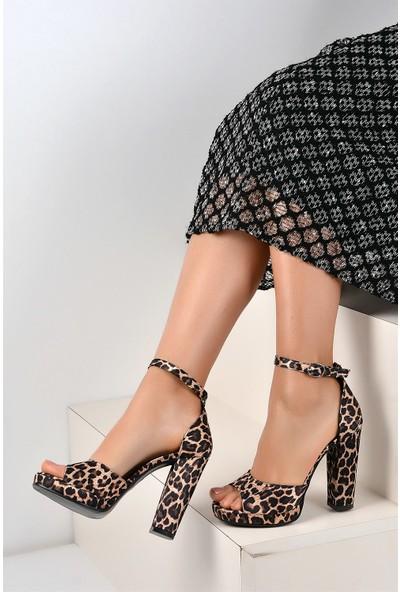 Pembe Potin Leopar Kadın Ayakkabı