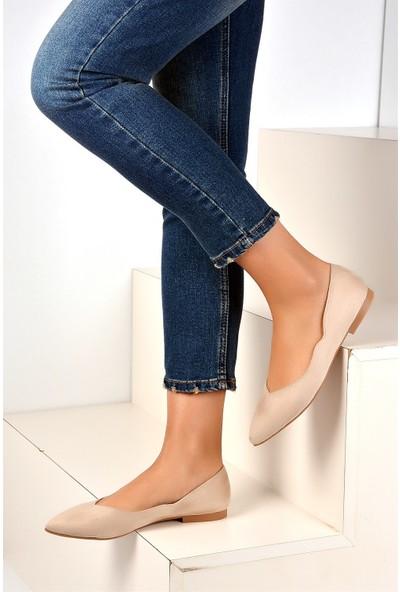 Pembe Potin Ten Nubuk Kadın Ayakkabı