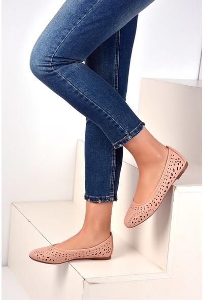 Pembe Potin Pudra Kadın Ayakkabı