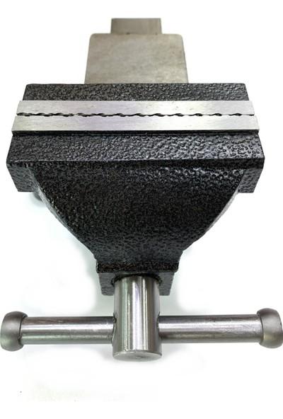 Öm-ka Royal Dönerli Paslanmaz Çelik Ağızlı Mengene 100 mm