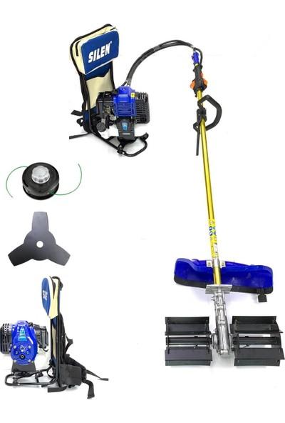 Silen Toprak Çapalama Makinesi + Sırt Tırpan 4.4 Hp 3.2 Kw Testere Ve Misina