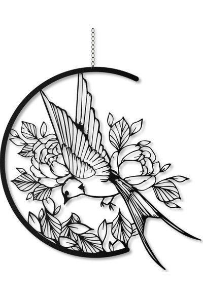 Artepera Swallow Metal Tablo - APT013 49 x 49 cm