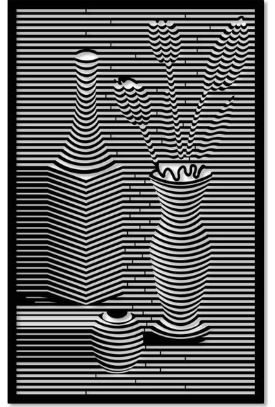 Artepera Naturmort Metal Tablo - APT058 45 x 70 cm