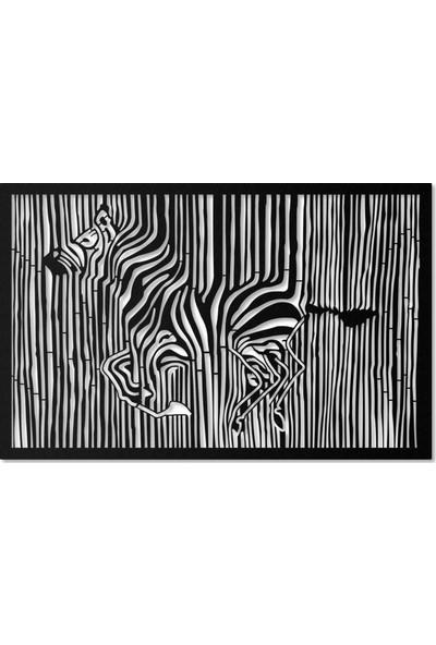 Artepera Barcode Metal Tablo - APT063 45 x 70 cm