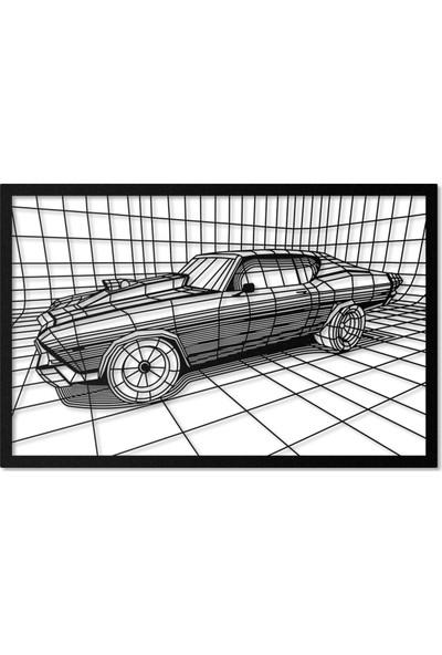 Artepera Chevelle Metal Tablo - APT089 45 x 70 cm