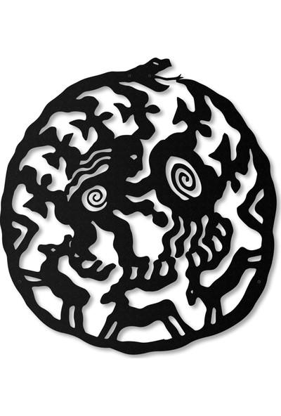Artepera Ouroboros Metal Tablo - APT114 49 x 49 cm