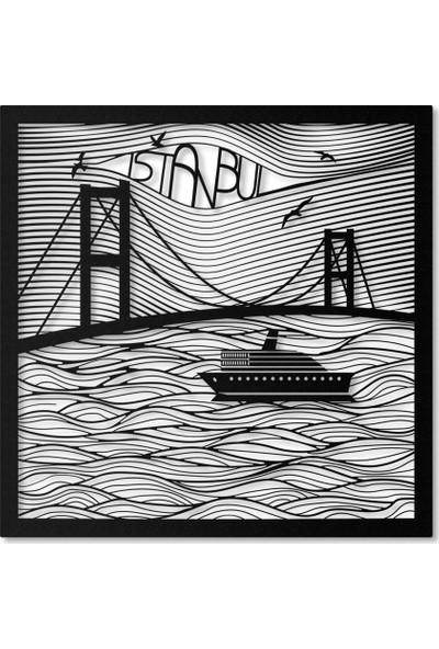 Artepera Bosphorus Metal Tablo - APT117 45 x 45 cm