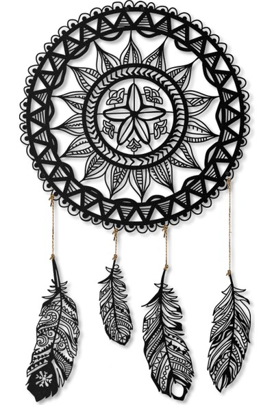 Artepera Dreamcatcher Metal Tablo - APT121 49 x 49 cm