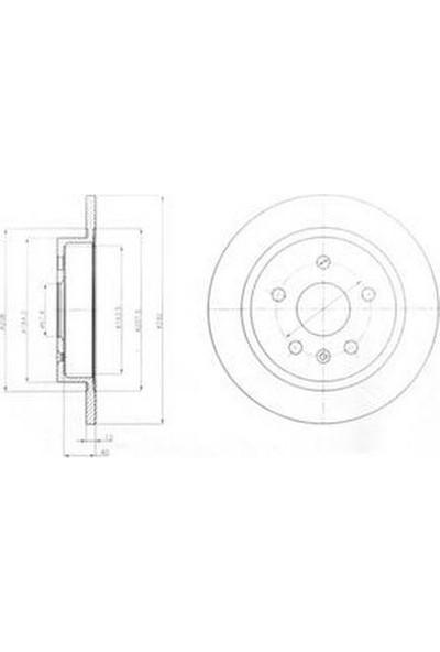 Delphi Fren Diski Arka 5D 292mm Insignia 16İnç