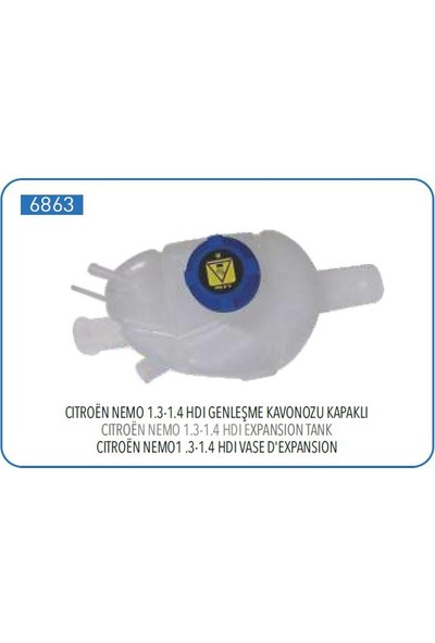 Pleksan Genleşme Kabı Kapaklı Doblo Fiorino Nemo Bipper 1.3 1.4 HDI 08->