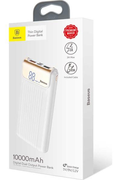 Baseus Thin QC 3.0 M+T Dual input Digital Display Powerbank 10000 Mah