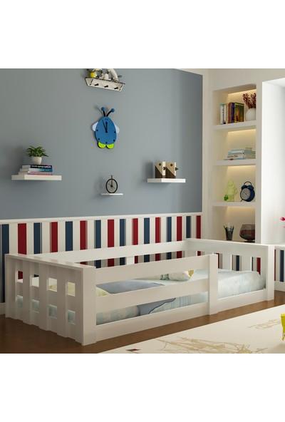 Evbingo İdeal Montessori Karyola Beyaz U4 - 90 x 190 Yatak Uyumlu - Genç - Çocuk Karyolası