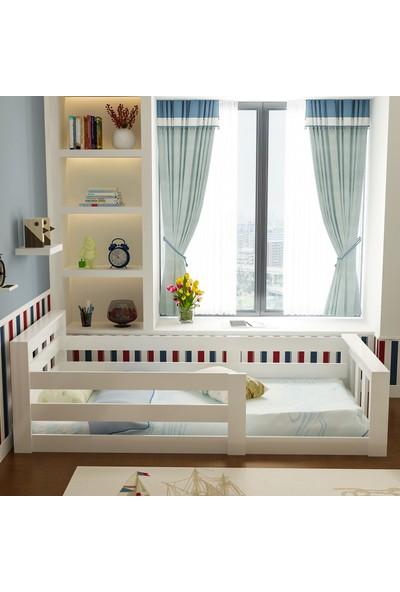 Evbingo İdeal Montessori Karyola Beyaz U6 - 90 x 190 Yatak Uyumlu - Genç - Çocuk Karyolası