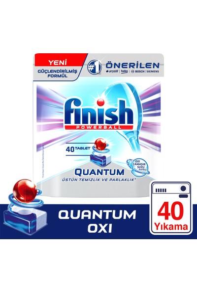 Finish Quantum 40 Tablet Bulaşık Makinesi Deterjanı Çamaşır Suyu Katkılı