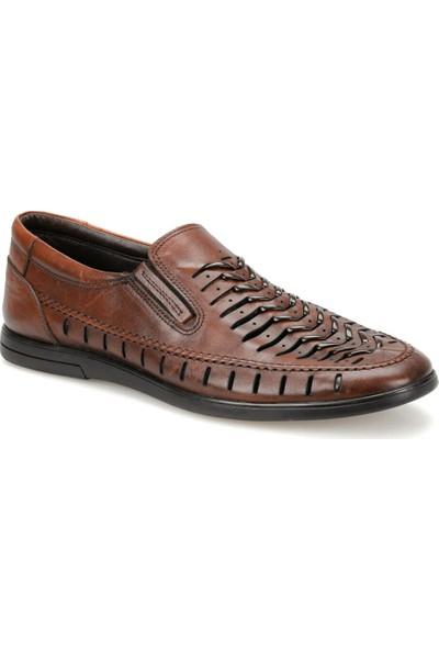 Flogart 3502 Kahverengi Erkek Deri Ayakkabı