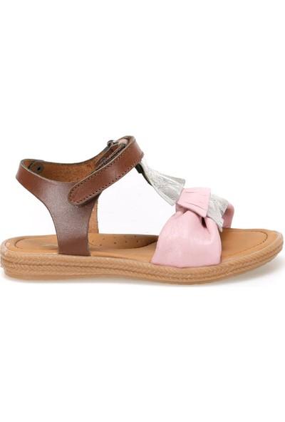Polaris 91.510033.P Pembe Kız Çocuk Deri Sandalet