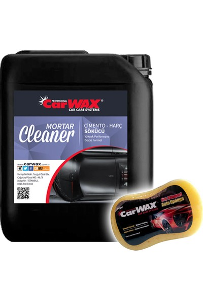 Carwax Çimento Harç Sökücü Mortar Cleaner 5 kg Uygulama Sünger