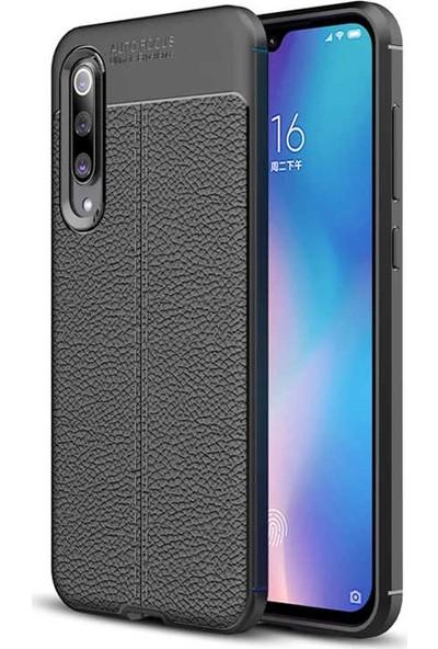 Case 4U Xiaomi Mi 9 Kılıf Darbeye Dayanıklı Niss Arka Kapak Siyah