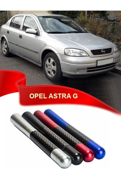 Waxen Opel Astra G Uyumlu Karbon Desenli Çubuk Metal Radio Anteni - Mavi