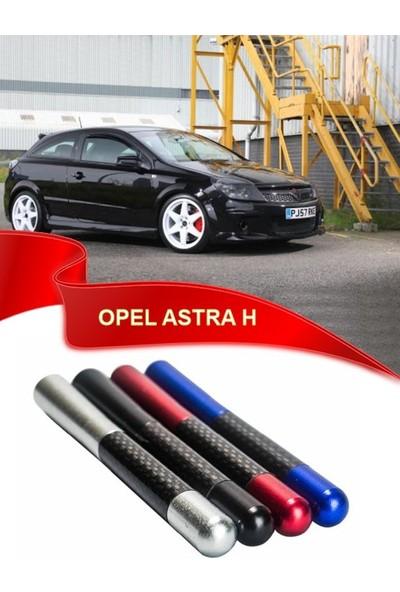 Waxen Opel Astra H Uyumlu Karbon Desenli Çubuk Metal Radio Anteni - Kırmızı