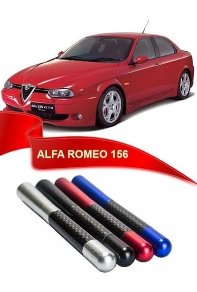 Waxen Alfa Romeo 156 Uyumlu Karbon Desenli Çubuk Anten Kısa Anten - Siyah