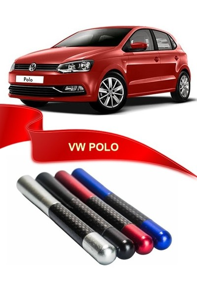 Waxen VW Polo Uyumlu Karbon Desenli Çubuk Metal Radio Anteni - Mavi
