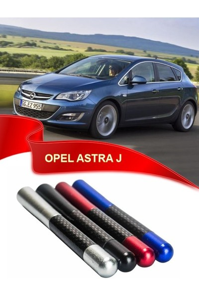 Waxen Opel Astra J Uyumlu Karbon Desenli Çubuk Metal Radio Anteni - Mavi