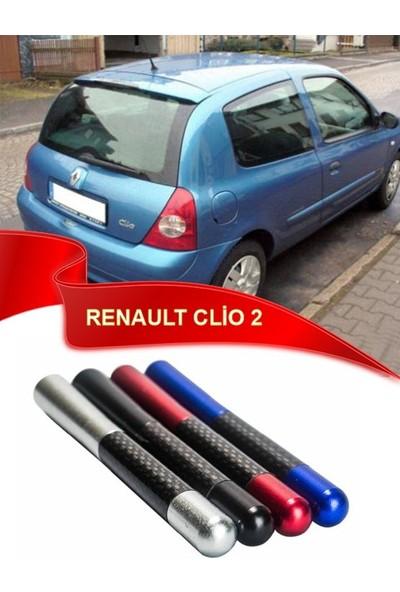 Waxen Renault Clio 2 Uyumlu Karbon Desenli Çubuk Anten Kısa Anten - Siyah