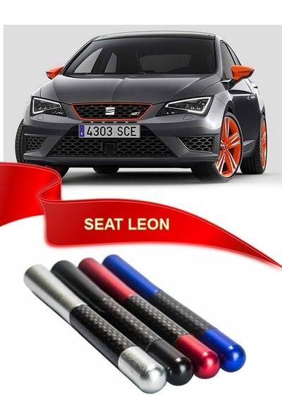 Waxen Seat Leon Uyumlu Karbon Desenli Çubuk Metal Radio Anteni - Kırmızı
