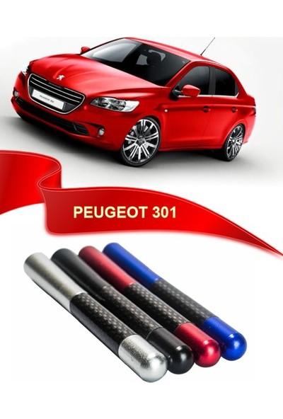 Waxen Peugeot 301 Uyumlu Karbon Desenli Çubuk Anten Kısa Anten - Siyah