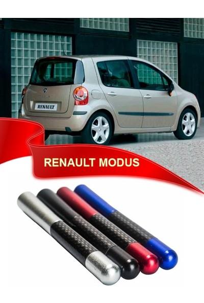 Waxen Renault Modus Uyumlu Karbon Desenli Çubuk Metal Radio Anteni - Kırmızı