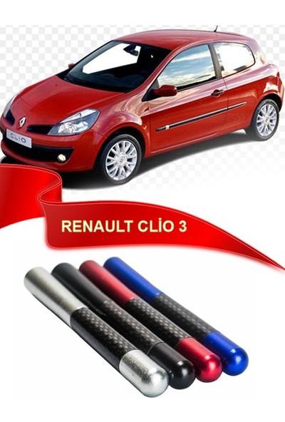 Waxen Renault Clio 3 Uyumlu Karbon Desenli Çubuk Radio Anteni - Kırmızı