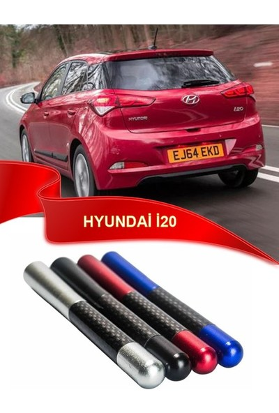 Waxen Hyundai i20 Uyumlu Karbon Desenli Çubuk Radio Anteni - Gri