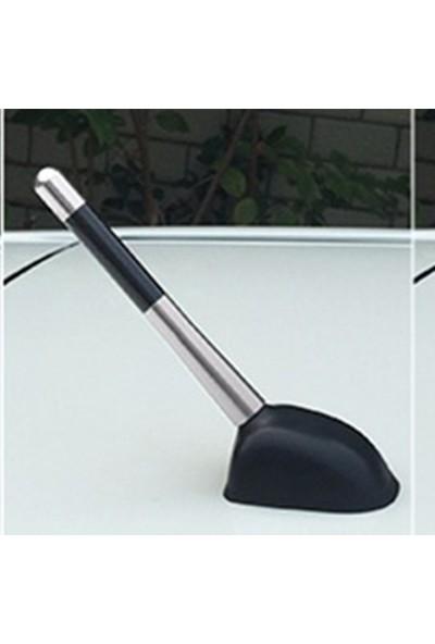 Waxen Mini Cooper Uyumlu Karbon Desenli Çubuk Anten Kısa Anten - Gri