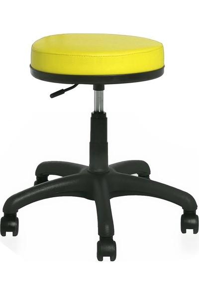 Seduna Mint Tabure Sarı - Bar Sandalyesi - Ofis Çalışma Koltuğu