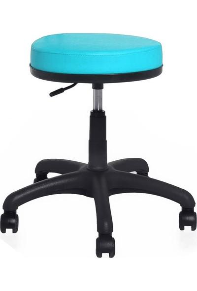 Seduna Mint Tabure Turkuaz - Bar Sandalyesi - Ofis Çalışma Koltuğu