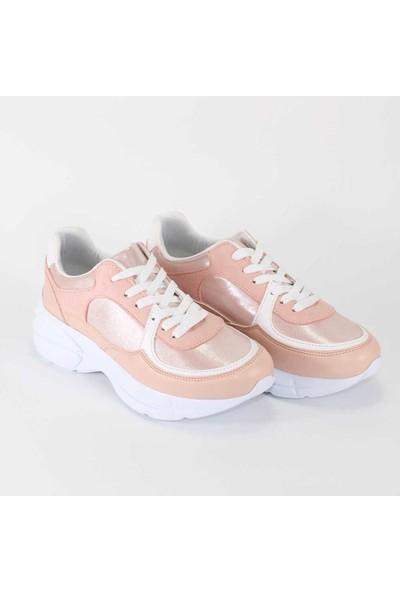 Crash Kalın Tabanlı Pudra Kadın Sneakers Spor Ayakkabı - Crash - Violaceae