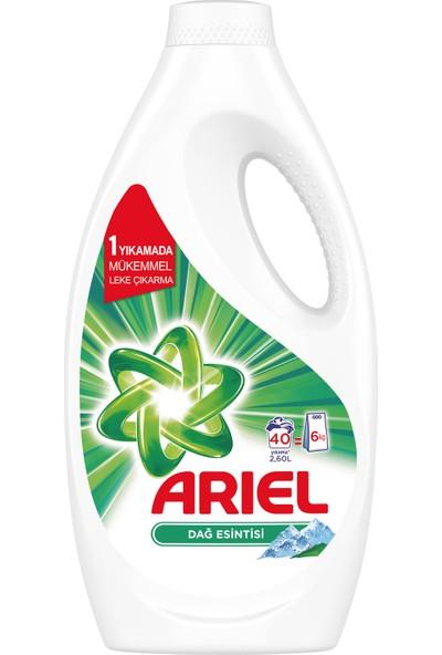 Ariel 40 Yıkama Sıvı Çamaşır Deterjanı Dağ Esintisi Beyazlar İçin